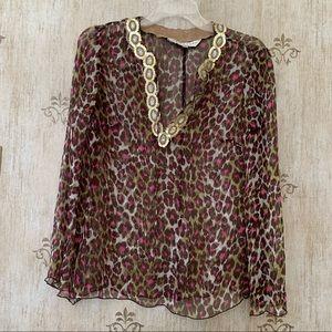 Trina Turk sheer silk blouse